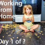 Girl on floor with crackers - wfh
